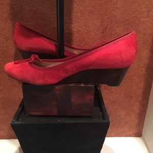 Sz 10 Red Tory Burch wedges